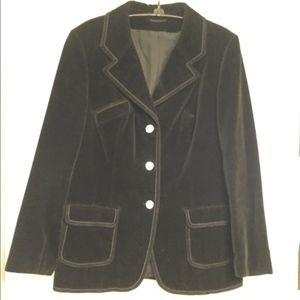 Gothic Festival Black velvet Blazer Vintage Gypsy